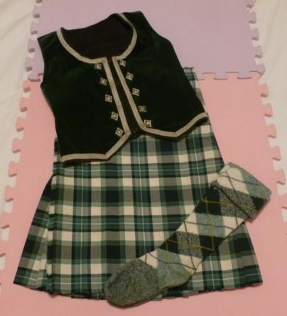 Kilt with green vest (not on dancer) #drummond #perth #green #tartan