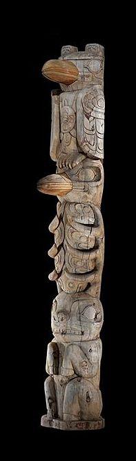 Kwakwaka'wakw (Kwakiutl) totem pole, British Columbia.