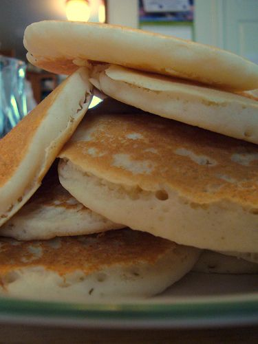 Easy Pancake Mix - yummy! We added cinnamon & vanilla to our batter.
