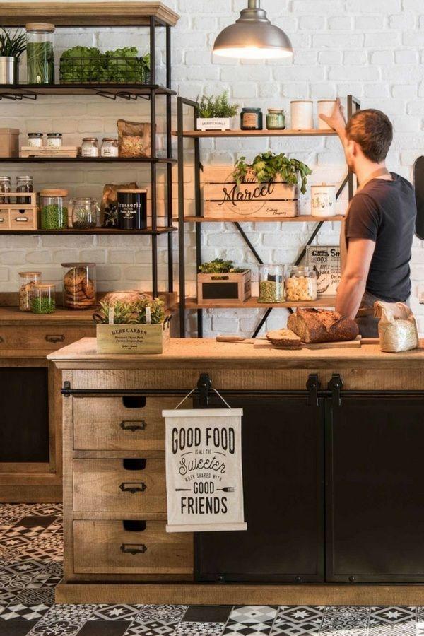 28 Rangements Maisons Du Monde Pratiques Deco Cuisines Maison Cuisine Style Industriel Amenagement Interieur Meuble Cuisine
