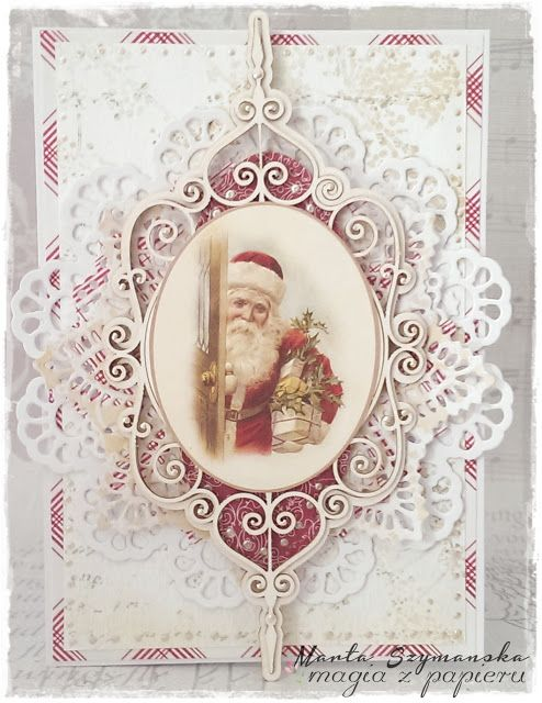 Scrap & Craft: Christmas card Scrap & Craft: Christmas card using products from www.scrapandcraft... #Christmas #Santa #gifts #snowflakes #gems