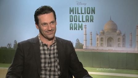 "Actor Jon Hamm recalls his days as a star high school football player in St. Louis, Missouri and also discusses working alongside Cincinnati Bengals linebacker Rey Maualuga in his new upcoming film ""Million Dollar Arm""."