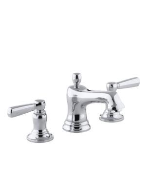 "Bancroft series of fixtures, My favourite. 8"" widespread faucet comes in around $420.00.  This is an extensive suite with tonnes of options for sinks , toilets, pedestals"