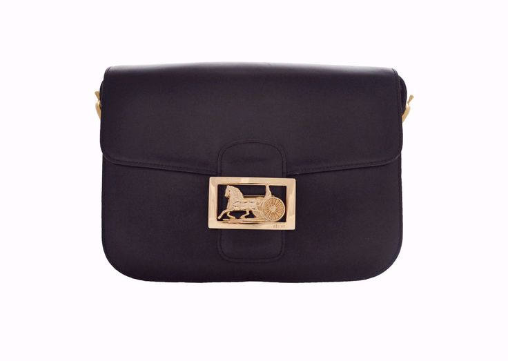 7bae829aba CELINE VINTAGE BAG - Classic Box in Black from Vintage District - Authentic  vintage designer bags