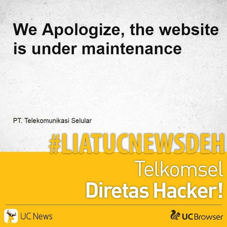 #LiatUCNewsDeh  Telkomsel diretas Hacker!  Gara2 apa sih ini?  Coba liat lengkapnya di profil @ucnewsindo  #ucnews #ucnewsindonesia #smartandtrendy #smart #trendy #indonesia #telkomsel #provider #internet #berita #kocak #hacker #hack #hackers #website #down #funny #moment #expensive #handphone http://unirazzi.com/ipost/1503034428141986994/?code=BTb2dlWleSy