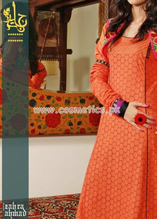 Zahra Ahmad Latest Eid Dresses 2012 Embroidered Collection For Girls