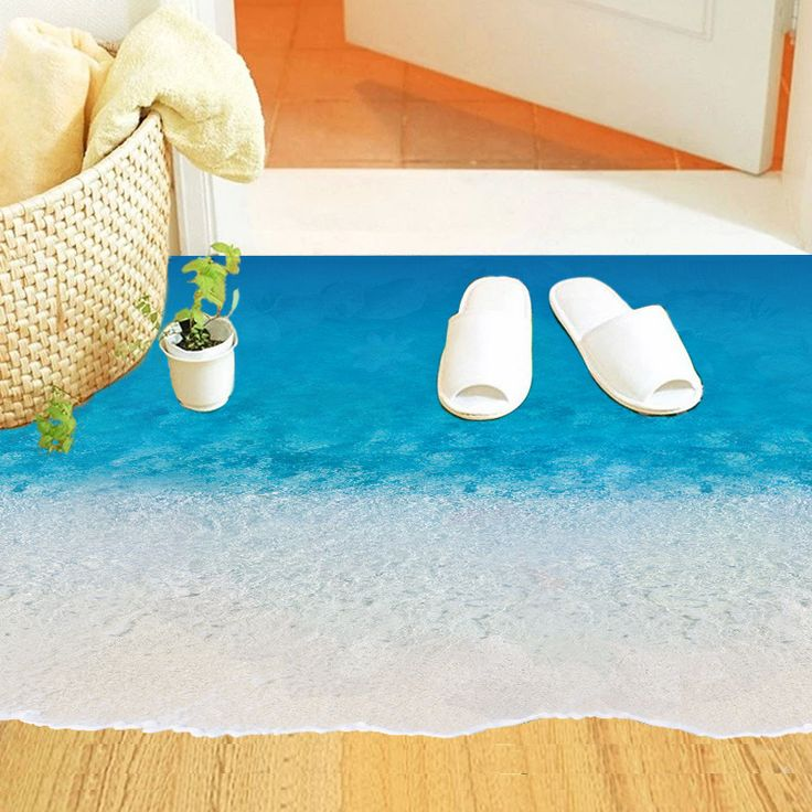 bedroom floor stickers/ decorations beach themed