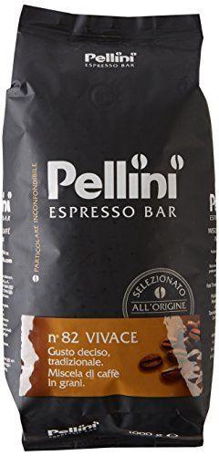 Pellini Caffè Grain de Café N°82 Vivace 1 kg: véritable expresso italien mélange Robusta/Arabica de grande qualité, corsé torréfaction en…