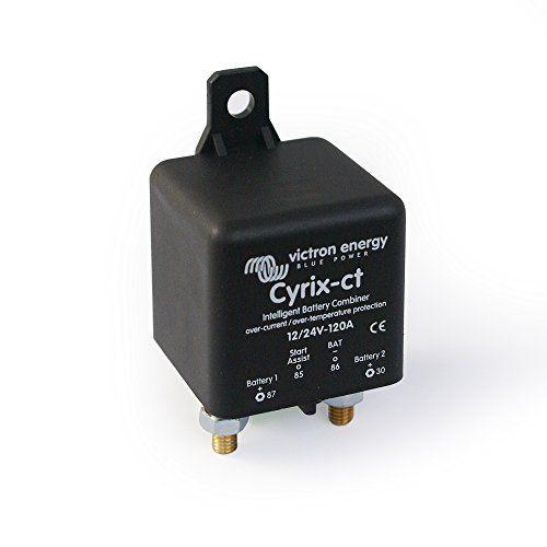 Coupleur de batteries intelligent Cyrix-ct 12/24 V 120 A: Un contrôle de batterie intelligent pour éviter les commutations non souhaitées.…