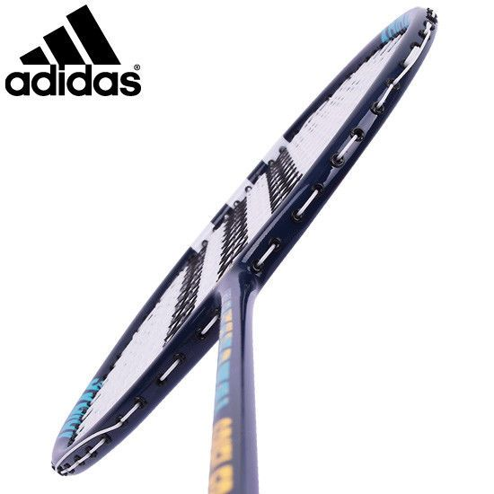 adidas Badminton Racket SPIELER E06 Light Blue Black Racquet String with Cover #YONEX