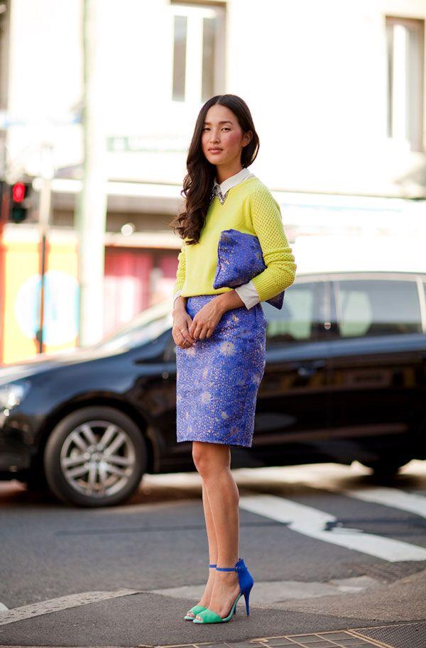 Sydney Fashion Week Spring 2012  Harper's BAZAAR: Colors Combos, Color Fashion, Habitu Chic, Fashion Week, Street Style, Models Fashion, Perfectfashion Models, Bold Colors, Colors Fashion