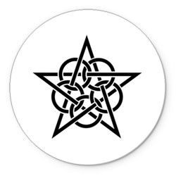 Тату звезда с кругами