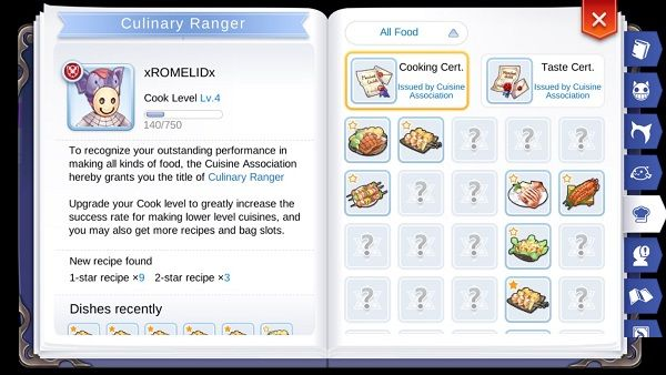 Daftar Resep Masakan Lengkap Ragnarok Online Mobile Eternal Love Indonesia Resep Masakan Masakan Resep