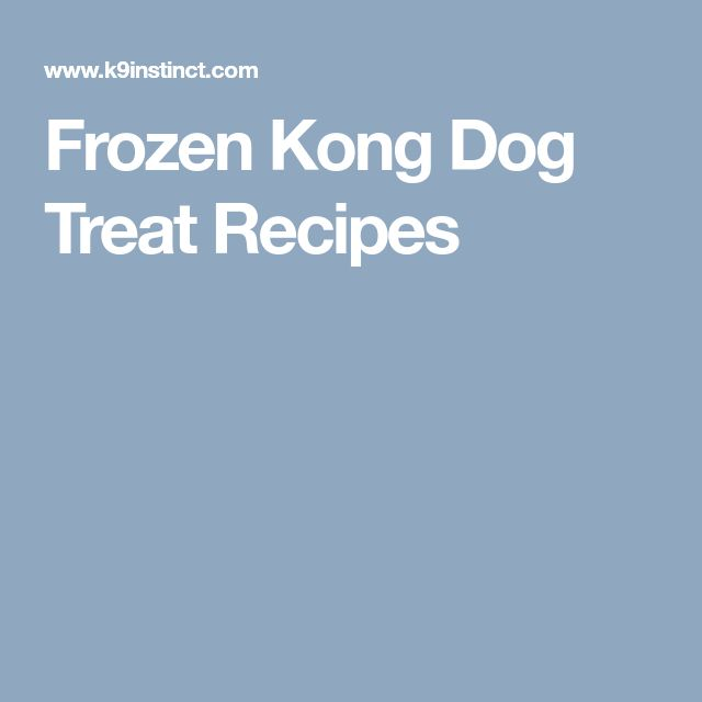 Frozen Kong Dog Treat Recipes