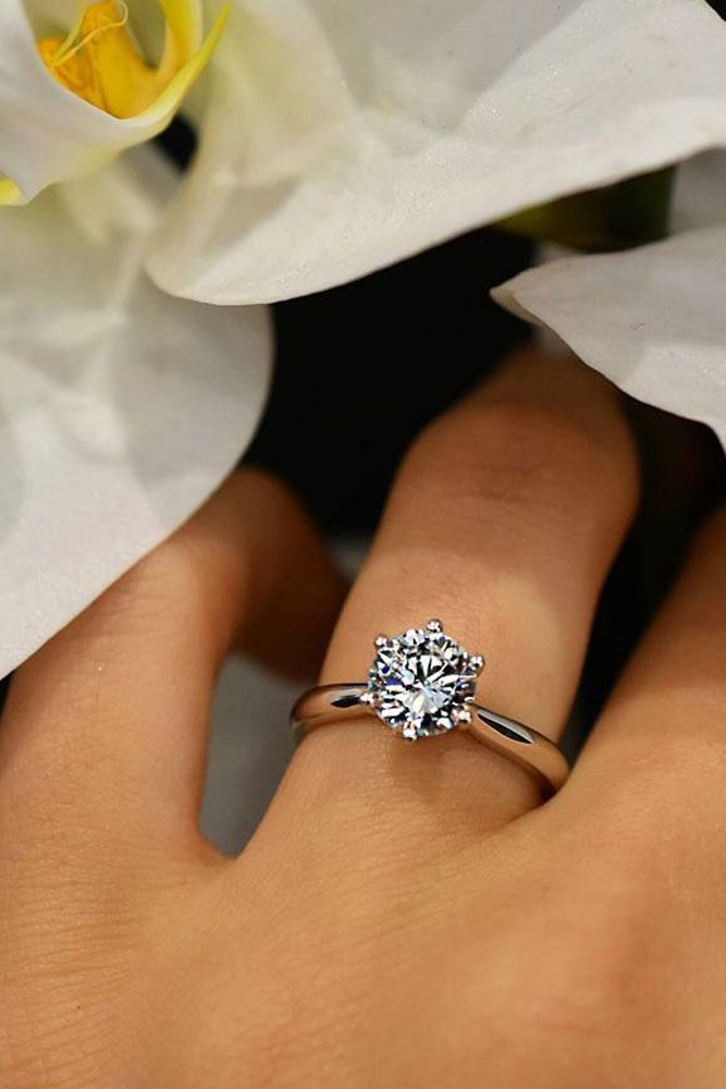 24 TOP Engagement Ring Ideas ❤️ top engagement ring ideas rose gold round simple ❤️ See more: http://www.weddingforward.com/top-engagement-ring-ideas/ #wedding #bride