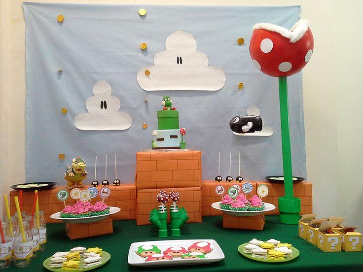 mario party la d coration anniversaire mario yoshi. Black Bedroom Furniture Sets. Home Design Ideas