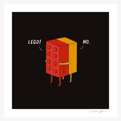 """I Will Never Lego"" Print"