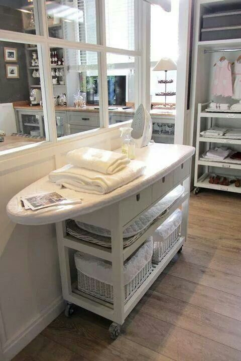 Idea for dressing room or craft room