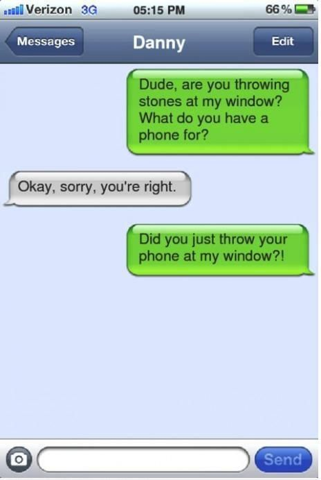 did you just throw your phone...