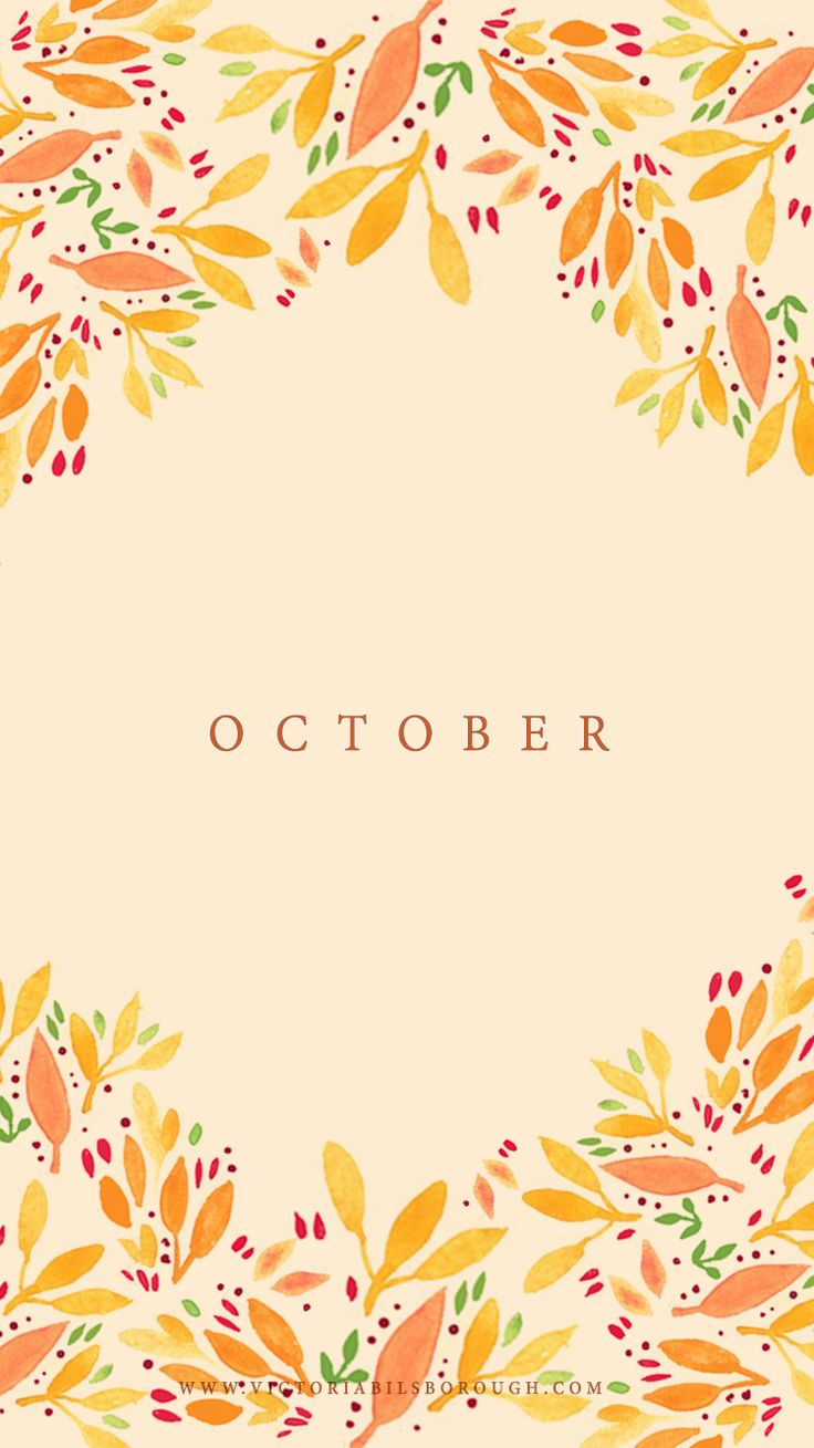 October Calendar Wallpaper Iphone : October fall wallpapers floral and wallpaper