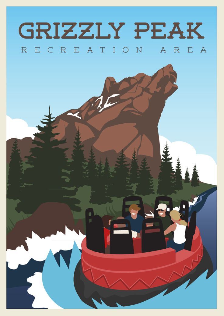 Grizzly Peak Poster, Disney's California Adventure. By Rob Yeo
