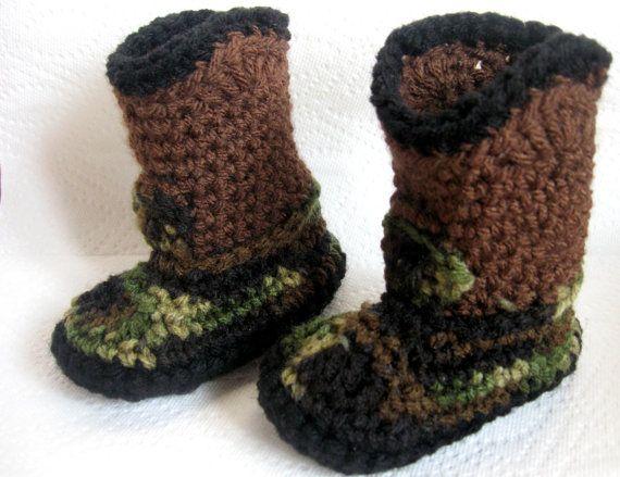 crochet boy cameo booties @Rebekah Gilley @Elisabeth Goodrich :-)