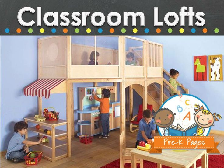 Classroom lofts for preschool and kindergarten