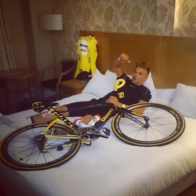 Marcel Kittel=== I sleep with my bike like this every nite too. NOT