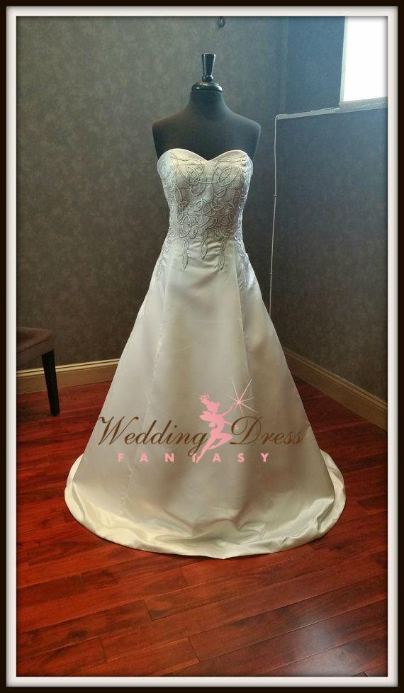 Celtic Wedding Dress by WeddingDressFantasy on Etsy
