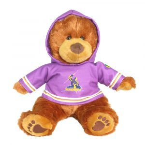Storm Plush Toys Supporter t-shirts with hood printed with team colours and logos