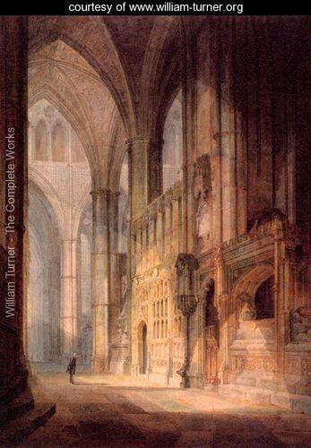Capilla en Westminster W.Turner El Genio de la Luz Galería virtual http://territoriotoxico.wordpress.com/2014/11/24/willian-turner-el-artista-y-el-color/#jp-carousel-1071