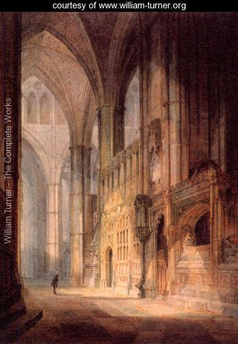 St. Erasmus in Bishop Islips Chapel, Westminster Abbey, by Joseph Mallord William Turner