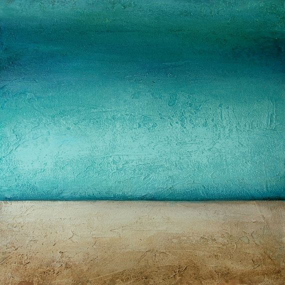 Abstract Acrylic Painting Original Fine Art Titled. Low Tide 2.size. 30x40 By Ava Avadon via Etsy