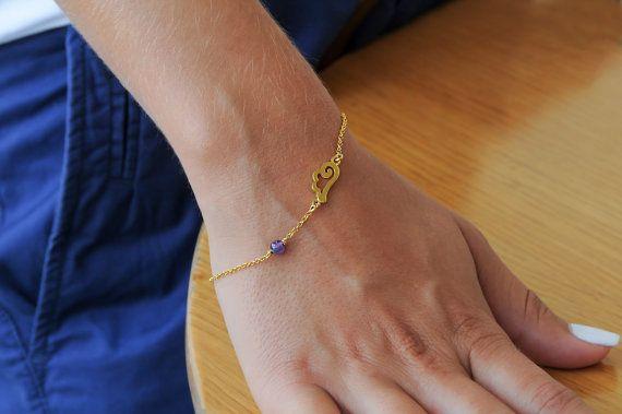 Silver wing Wing bracelet Amethyst bracelet 925 by Wavejewels