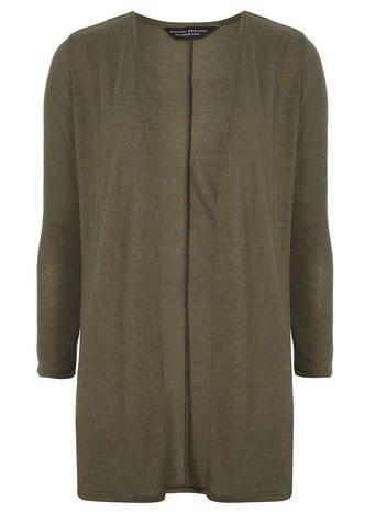 Khaki Belted Cardigan