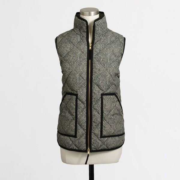 Printed quilted puffer vest ($54) via Polyvore featuring outerwear, vests, puffy vests, zipper vest, zip vest, puffer vest and quilted puffy vest