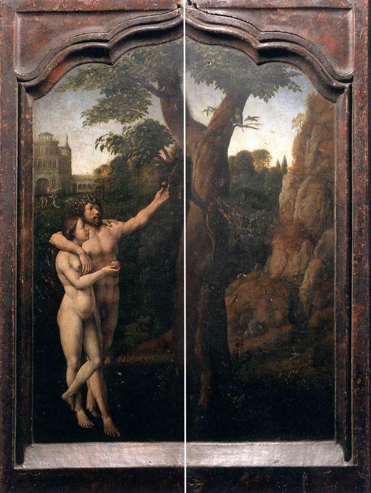Jan Gossart, Adán y Eva (retablo Malvagna, 1513-1515)  Galleria Regionale della Sicilia, Palermo.