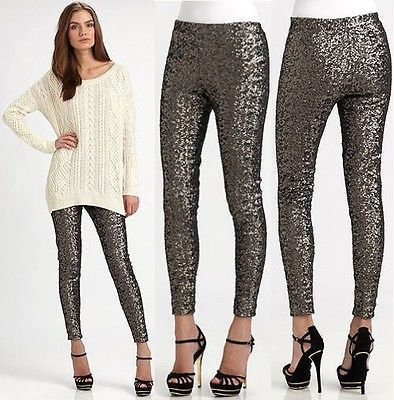 Ralph Lauren Sequin Straight Leg Pants