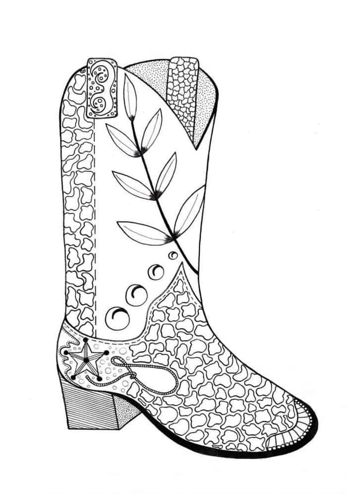 Cowboy Coloring Pages In 2020 Free Adult Coloring Pages