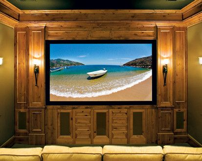 Canyon Creek   Falmouth Inset In Rustic Alder With A Pecan Stain, Traditional Media Room, Seattle