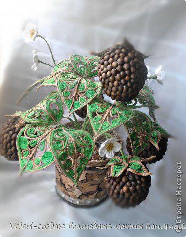 Plaster bonsai Topiary rękodzieło decoupage modelowanie produkt projekt Topiary Strawberry kawy Sznurek Koraliki Papier Lakier do włosów Sznurek Yarn drut zdjęcie 5