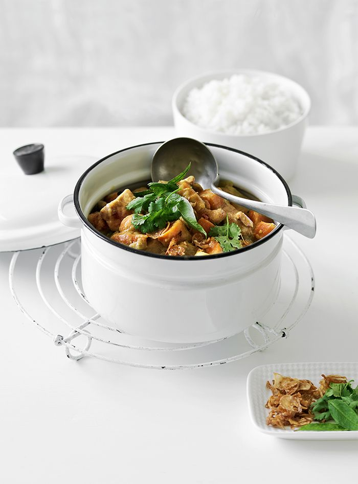 Home made curries are relatively easy to make and always tasty if you use the essential trinity of fresh chilli, ginger and lemongrass.