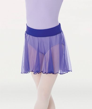 Body Wrappers: Medium length chiffon tapered pull-on Dance skirt
