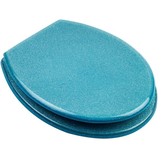 um hello teal glitter toilet seat yes please products. Black Bedroom Furniture Sets. Home Design Ideas
