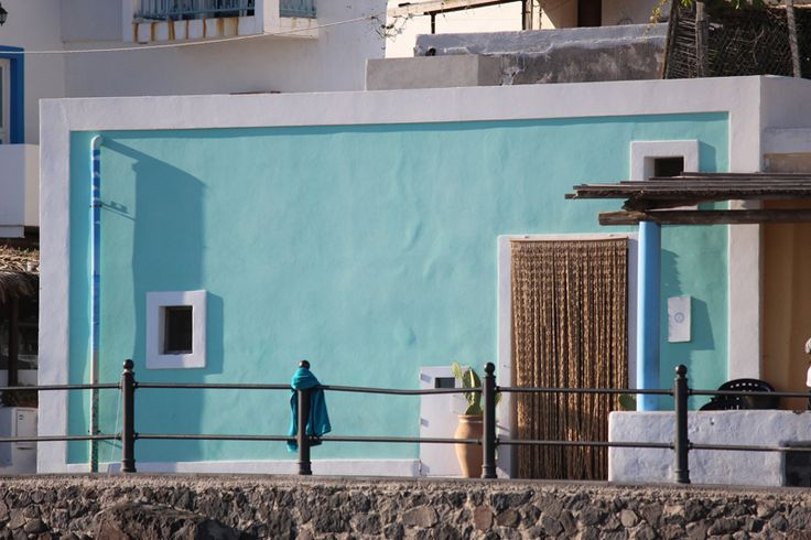 Pastel house - Eolie islands. Sicily, Italy