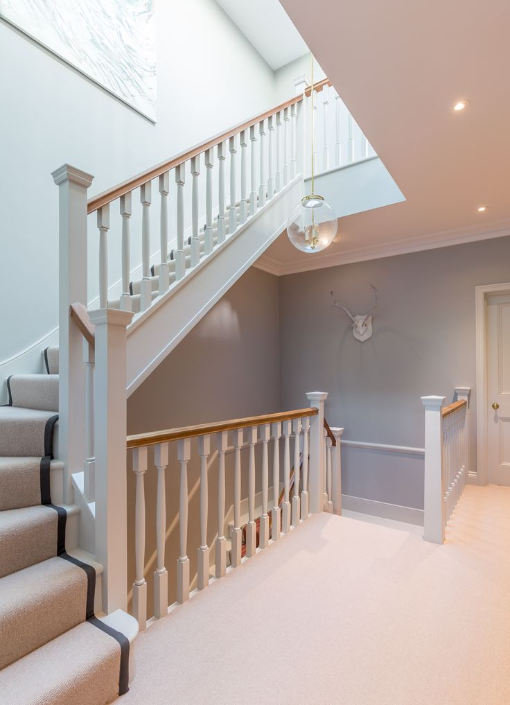 Stairway renovation | middle floor | Victorian property | stair runner | rooflight | home circulation |