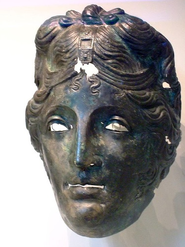 Cavalry Helmet Mask Roman 75-125 CE Bronze - I suppose this was for when they really needed to sack a village in Gaul dressed as a young Roger Daltrey