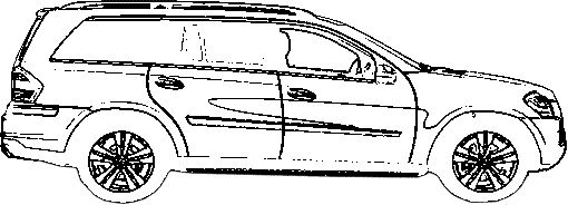 mercedes benz gl450 coloring page