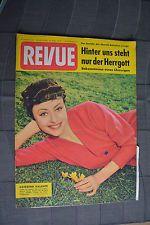 Alte Zeitschrift Revue Nr. 20 vom 18. Mai 1957 Titelbild Caterina Valente