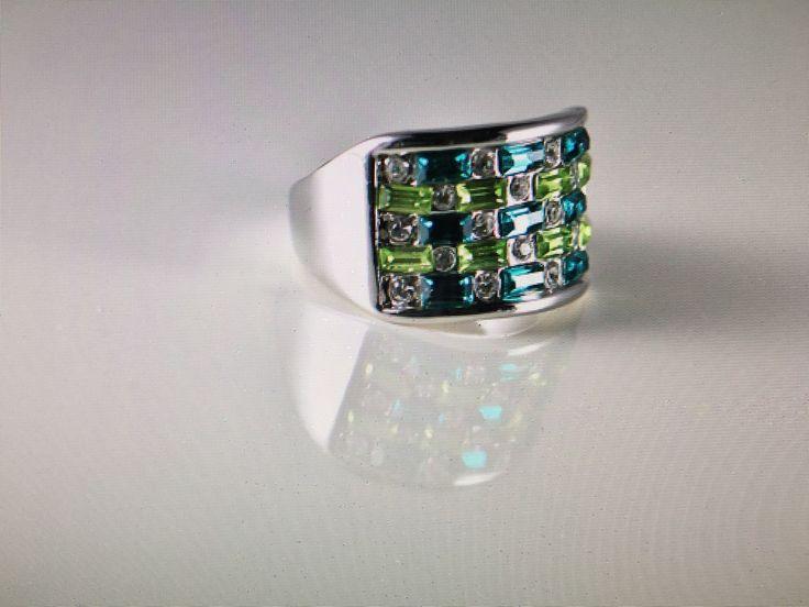 CROWN EMPEROR Austrian Crystal Ring